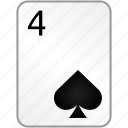card, casino, four, poker, spades icon