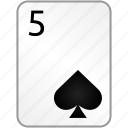 card, casino, five, poker, spades icon