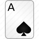 ace, card, casino, poker, spades icon