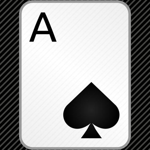 ace, card, casino, poker, spades icon