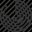 analysis, circular bar chart, climbing, graph, growth, planning stats icon
