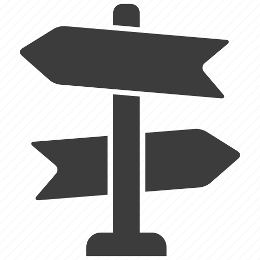 decision, direction, road sign icon