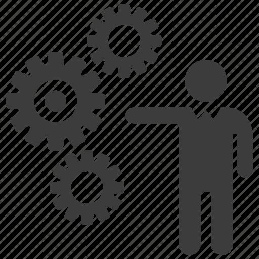 gear, gears, operate, operator icon