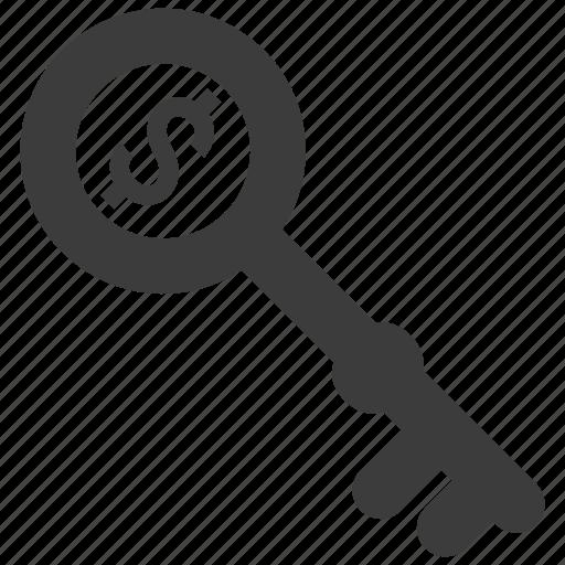 business, finance, key, success icon