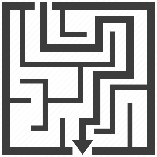 business, labyrinth, maze, solution icon