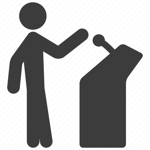 Speech, conference, presentation icon