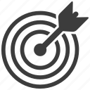 aim, bullseye, dartboard, target icon