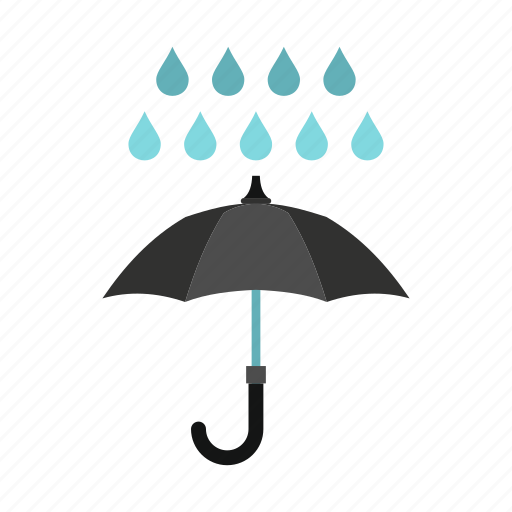handle, meteorology, open, protection, rain, umbrella, weather icon