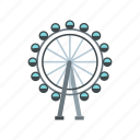 amusement, circle, entertainment, ferris, fun, park, wheel icon