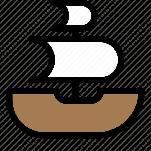 boat, pirates, sails, ship icon