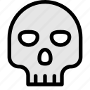 bone, cross bone, danger, dead, pirates, skull icon