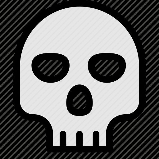 bone, danger, dead, skull icon