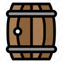 barrel, pirates, wooden, wood, furniture