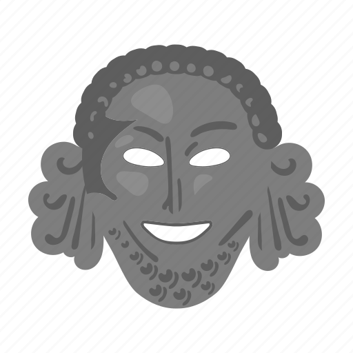 antiquity, face, mask, theater icon
