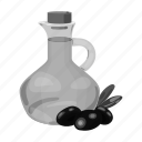 cooking, food, jug, oil, olive, restaurant, vessel icon