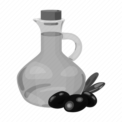 cooking, food, jug, oil, olive, restaurant, vessel icon