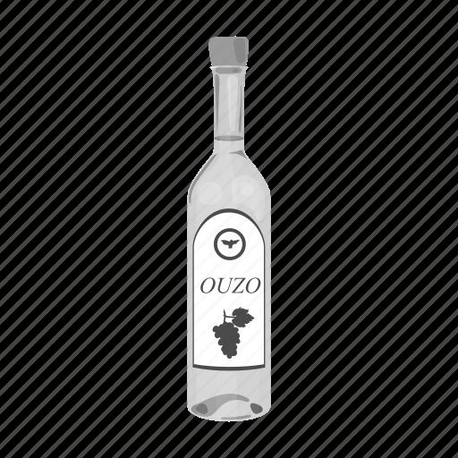 alcohol, bottle, drink, greek, vodka icon