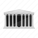 building, ancient, theater, column, architecture, greece, home icon