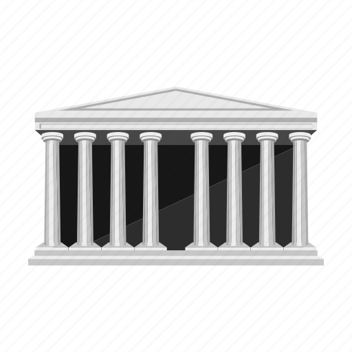 ancient, architecture, building, column, greece, home, theater icon
