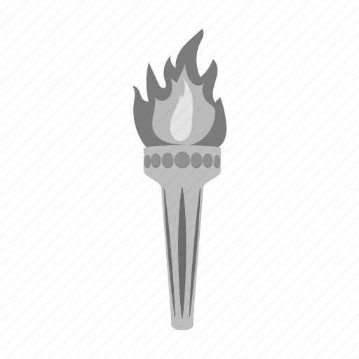 fire, flame, light, olympiad, sacred, torch icon
