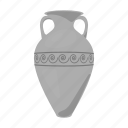 amphora, capacity, greek, vessel, water, wine icon