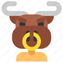 fantasy, god, greek, legend, minotaur, myth, mythology icon