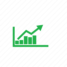 analytic, green icon