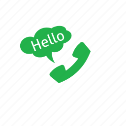 call, customer, green, hello icon