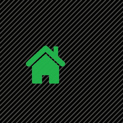 green, home icon