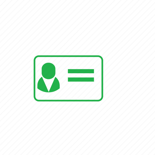 card, green, id icon