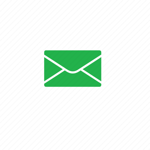 envelops, green, letters icon