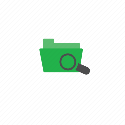 folder, green, search icon