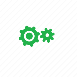 green, settings icon