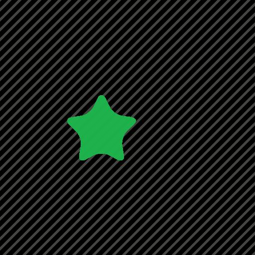 green, star icon