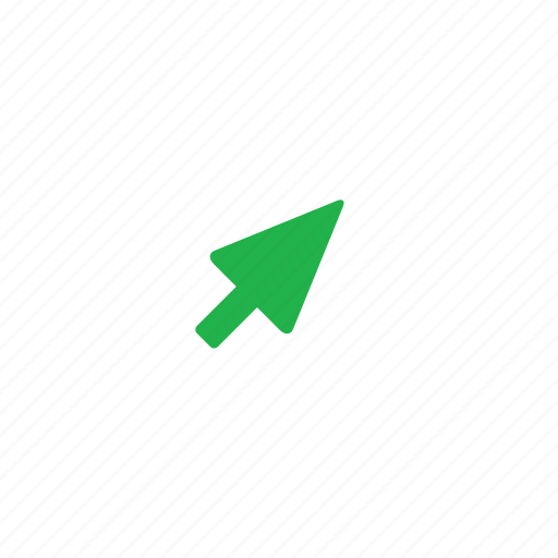 arrow, green, right, up icon