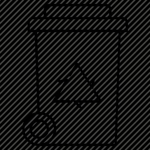 bin, bio, garbage, garbage basket, recycle, recycling, trash icon