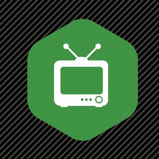antenna, broadcast, film, movie, picture tube, program schedule, television, tv, tv studio, video icon