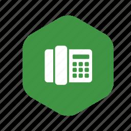 call, communication, fax, handset, phone, talk, telephone icon