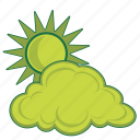 atmospheric, cloudy, radar, temperature, weather icon