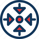 arrows, enlarge, maximize, scale, square icon