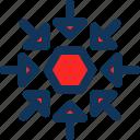 arrows, minimize, shrink icon