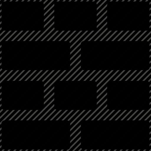 bricks, display, firewall, layout, masonry, view icon