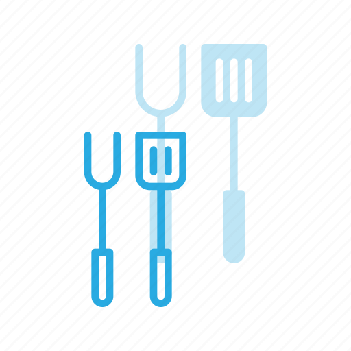 cook, cooking, fork, grill, grilling, spatula, tools icon
