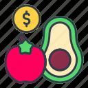 fruit, prices, food, cooking, kitchen, restaurant