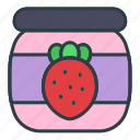 strawberry, jam, food, cooking, fruit