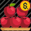apples, food, fruit, healthy, organic, supermarket