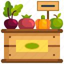 food, box, vegetable, healthy, fruit, shop icon