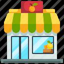 organic, shopping, market, fruit, shop icon