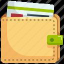 billfold, card, cash, money, wallet icon