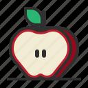 apple, cut, fresh, fruit